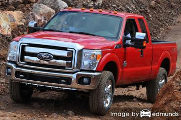 Insurance rates Ford F-250 in Mesa