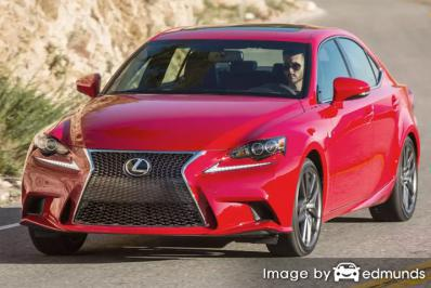 Insurance rates Lexus IS 200t in Mesa